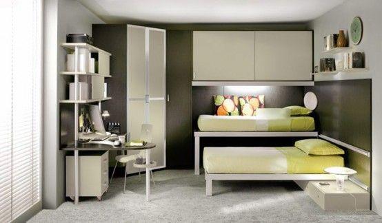 Habitaciones Con Camas Dobles Para Ninos Por Tumidei Arkihome - Dormitorios-dobles-para-nios