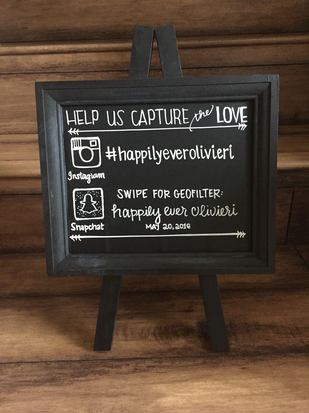 Wedding Snapchat Filter Sign   Using Social Media at your wedding ...