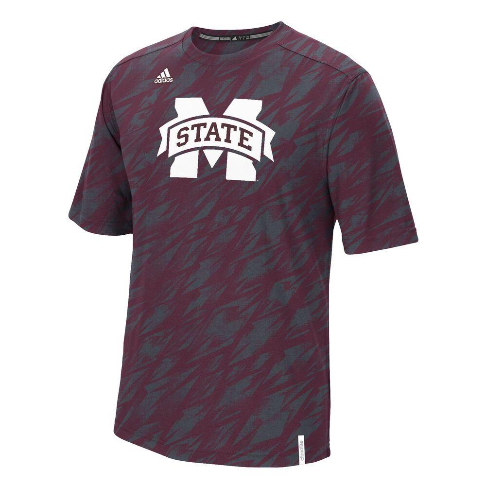 Men's adidas Maroon Mississippi State Bulldogs Sideline Shock Energy  Training climalite T-Shirt