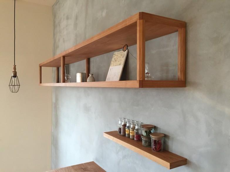 キッチン壁面の飾り棚 Iさんの家 キッチン事例 Suvaco スバコ