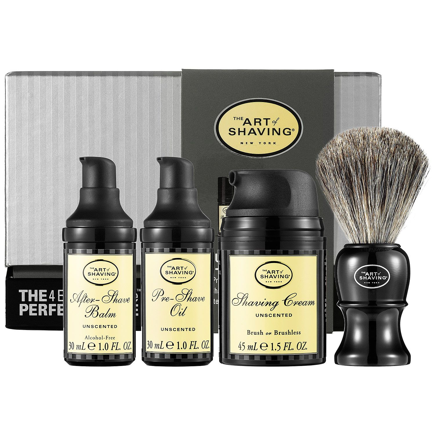 The Art Of Shaving The 4 Elements Of The Perfect Shave Carry On Unscented Skincare Gifts Grooming Gifts The Art Of Shaving Sephora