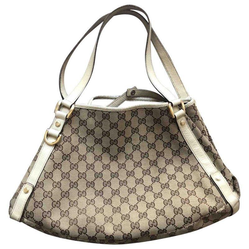 37e05d95a8ab36 beige Cloth GUCCI Handbag - Vestiaire Collective | Gucci handbags ...