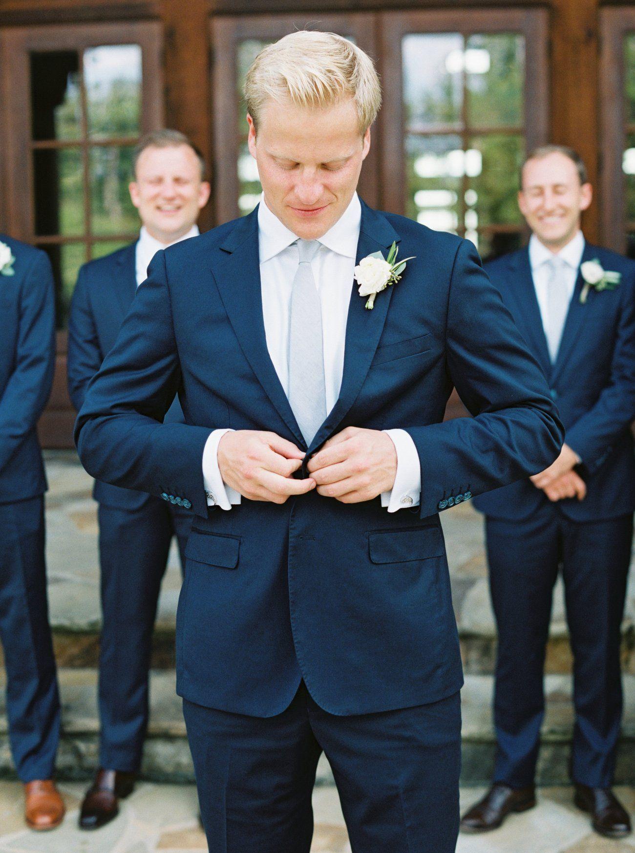 Tyler And Olivia Groom Blue Suit Navy Blue Suit Wedding Blue Groomsmen Suits