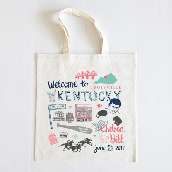 The ultimate custom tote bag for welcome bags for guests! Great ...