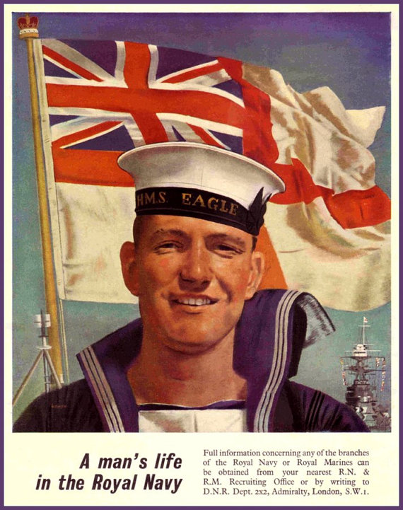 Art Print British Royal Navy Recruiting Poster Print 1940 Etsy Royal Navy Uniform Royal Navy Royal Navy Ships