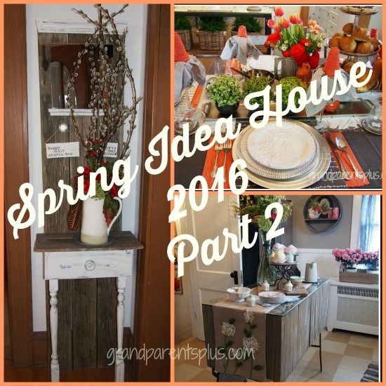 Spring Idea House Part 2 ! WOW! Ideas galore for your home ! Inspiration for vintage pieces, too!
