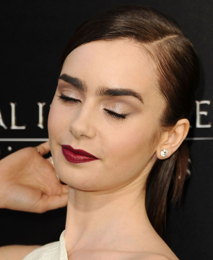 Lily Collins Shut It Down in the Hair and Makeup Department on the Mortal Instruments Red Carpet Last Night. Come See