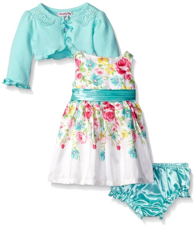 ed5006195097 AmazonSmile  Nannette Baby Girls  Floral Dress with Cardigan ...