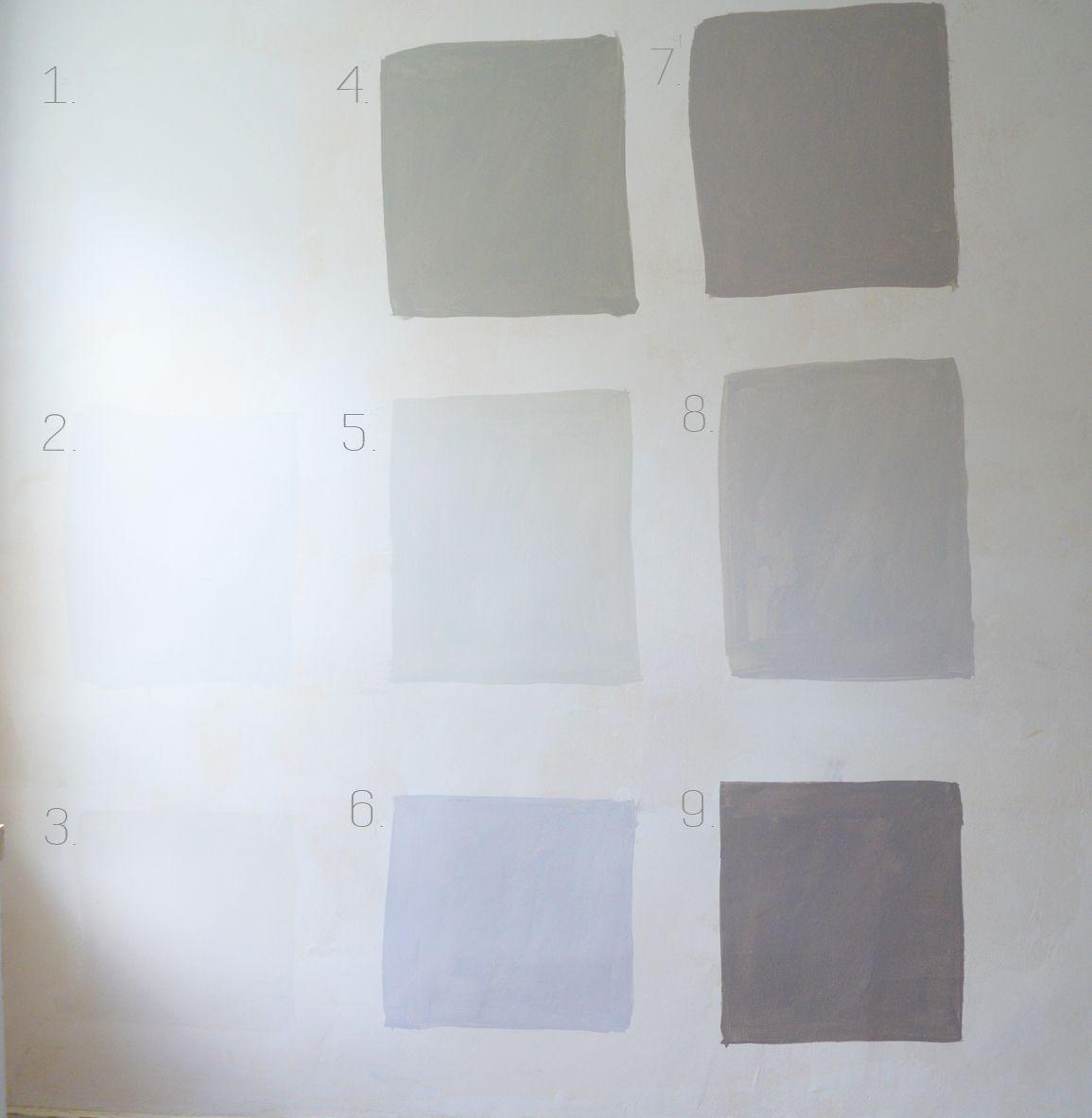 1 Misty Gray 2 Tundra 3 Silver Satin 4 Sea Haze 5 Gray Owl 6