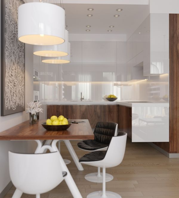 Wonderful Small Kitchen Diner Ideas Part - 13: Home-Designing.com Crisp-comfortable-apartment-designs Imagery By Artem  Trigubchak · Small Kitchen DinerSmall ...