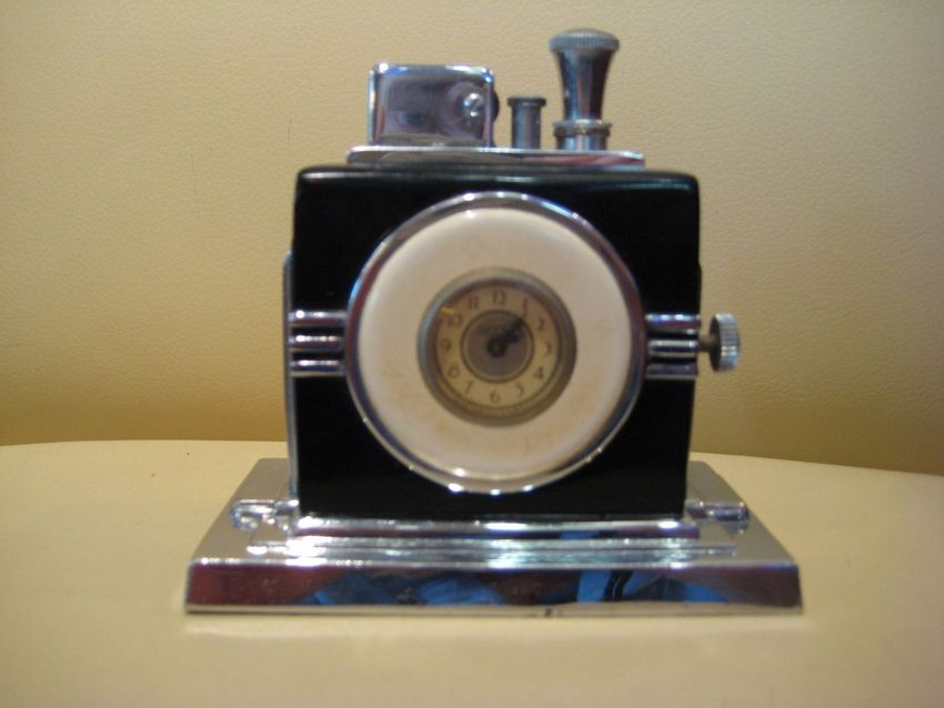 Ronson Touch Tip Table Lighter & Clock, exactly like the one in The Maltese Falcon. GUH. So much want.