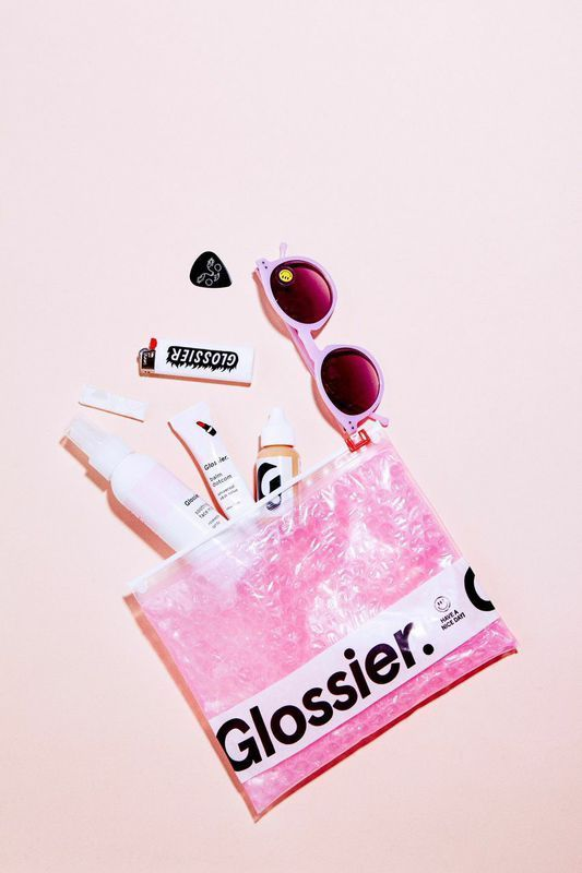 Glossier pink