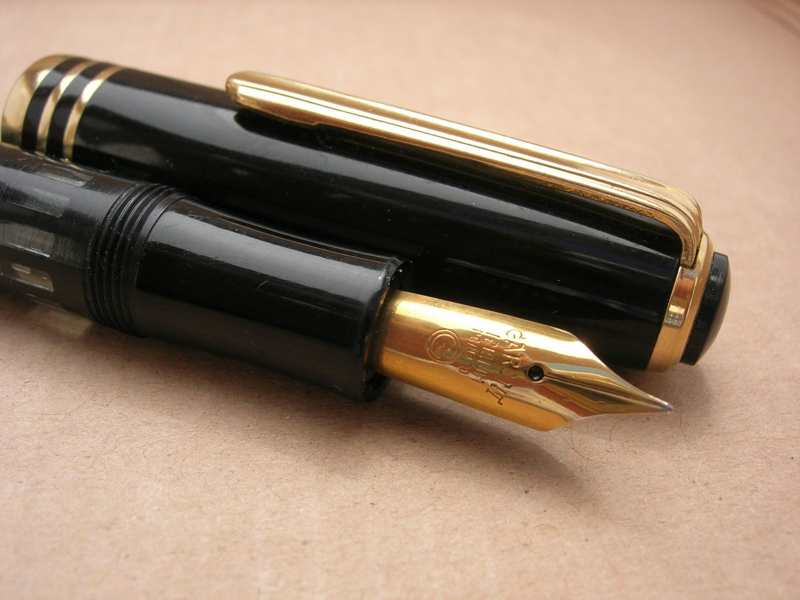 1960s Garant Alcor Black Over Sized German Pen Fully Working Ebay