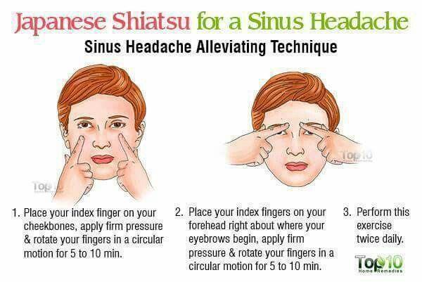 Japanese Shiatsu for Sinus headache | Sinus remedies ...