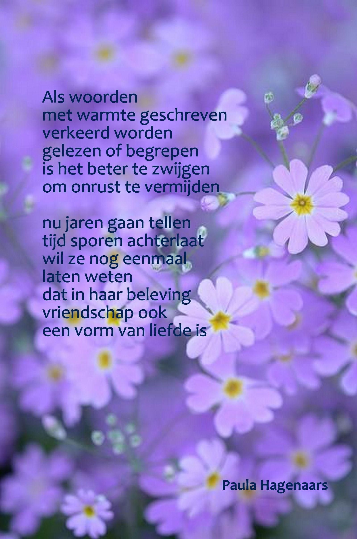 Gedichten Paula Hagenaars Purple 3 Pinterest Dutch Quotes
