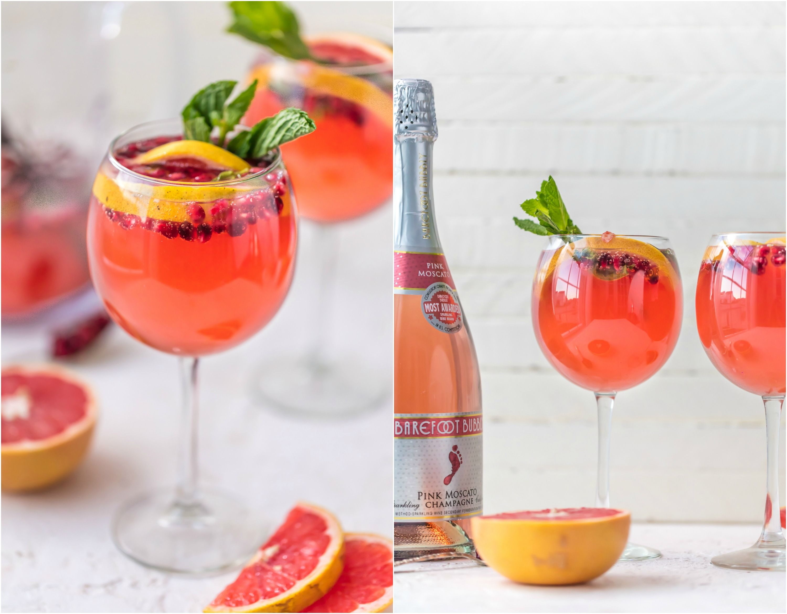 Pink Champagne Sangria Is The Perfect New Years Eve Cocktail Ring In The New Year With Style And Lots Sangria Recipes Champagne Sangria Simple Syrup Recipes