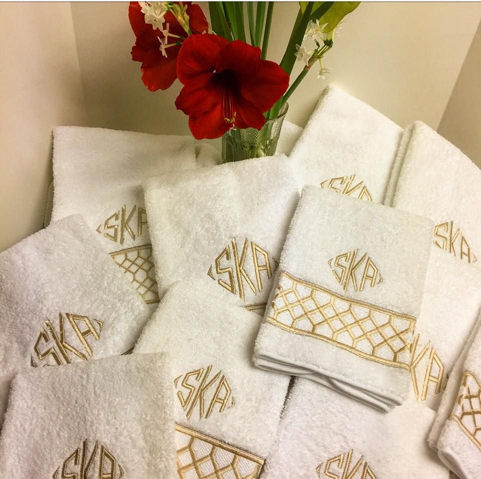 Custom Monogrammed Towels Best Monogram 1 Titus Rd Washington