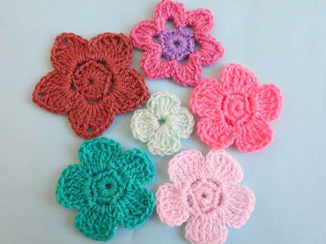Crochet Crosia Flowers Design Free Pattern Video Tut Picture Tut