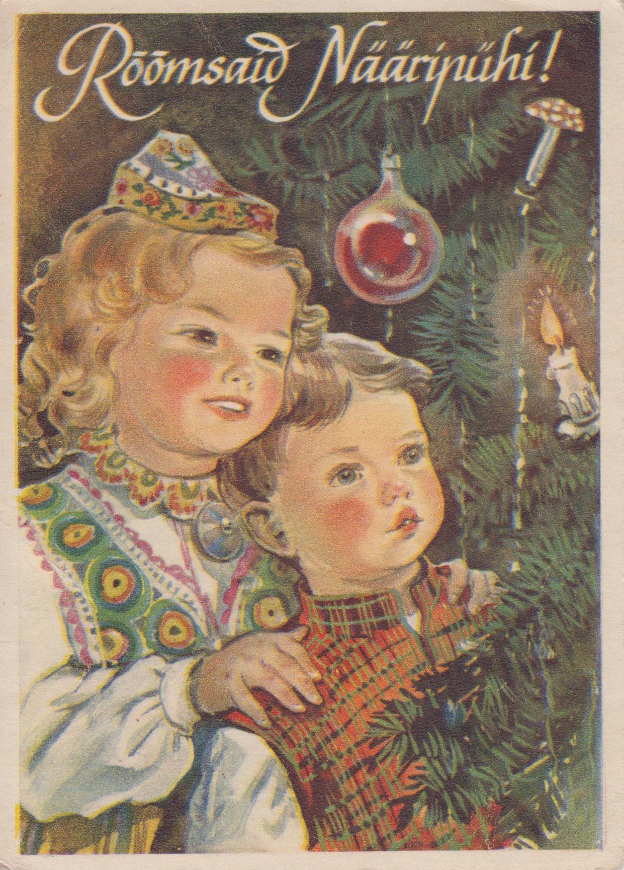 нашем послевоенные новогодние открытки описание что