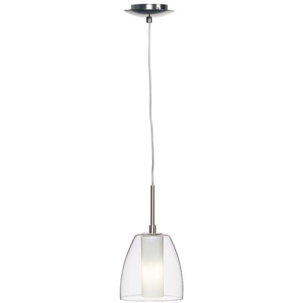 Olbia 1 Light Pendant In Brushed Chrome/Opal