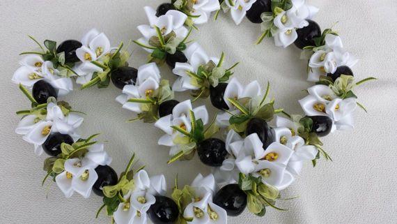 Kukui white flower lei l e i s pinterest flower lei leis and kukui white flower lei by aloharibboncrafts on etsy mightylinksfo