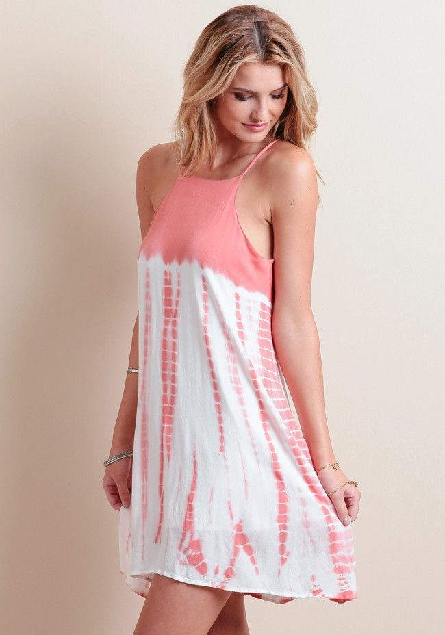Outshine the sun at your beach party in this stunning coral tie-dye ...