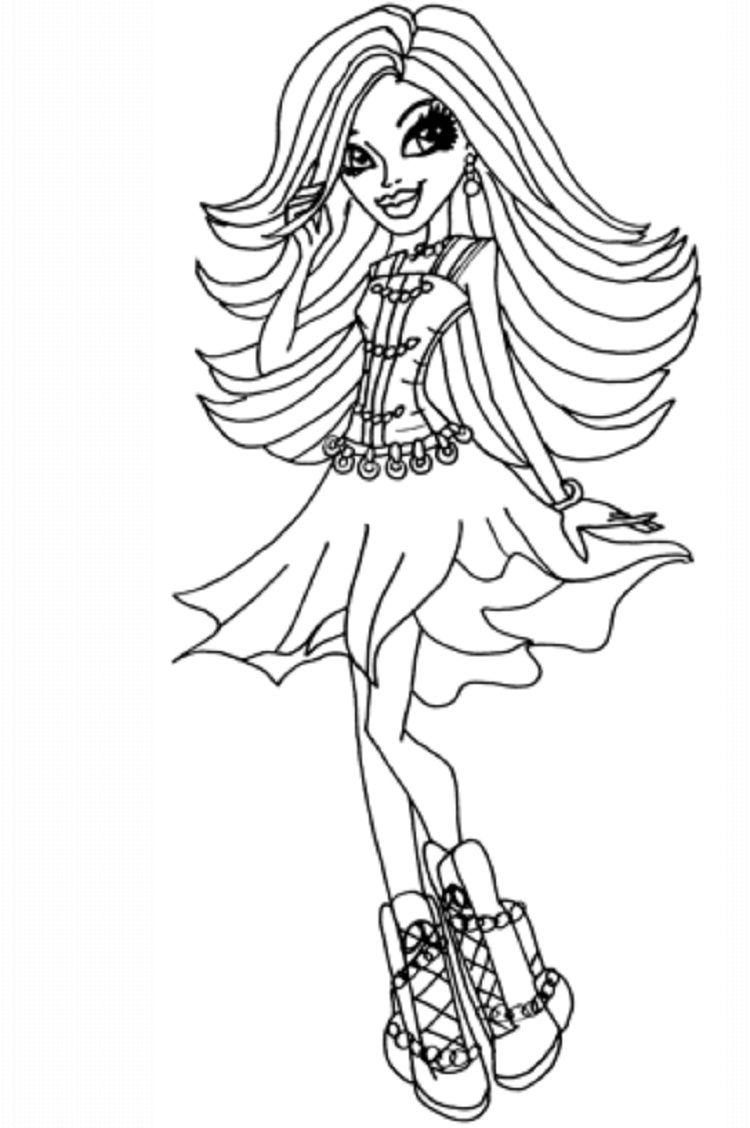 Monster High Coloring Pages Of Spectra Coloring Pages Monster High Monster