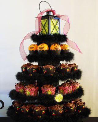 halloween cupcake tower - Halloween Cupcake Holder