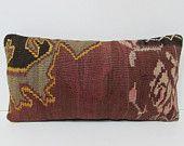 kilim pillow cover Turkish cushion sofa throw pillow decorative pillow case couch outdoor floor bohemian decor boho ethnic rug accent 25181