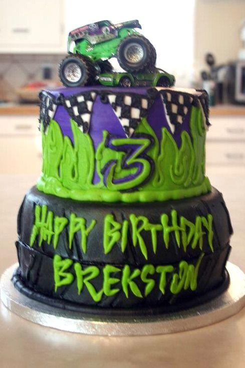 Little Boys Grave Digger Monster Truck Theme Birthday Cheris Bakery Wichita KS