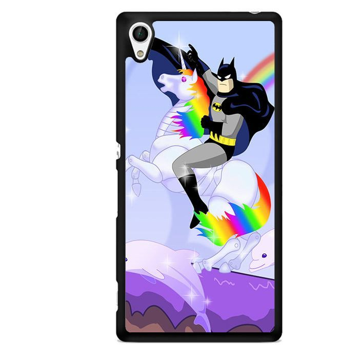Batman Riding Unicorn TATUM-1513 Sony Phonecase Cover For Xperia Z1, Xperia Z2, Xperia Z3, Xperia Z4, Xperia Z5