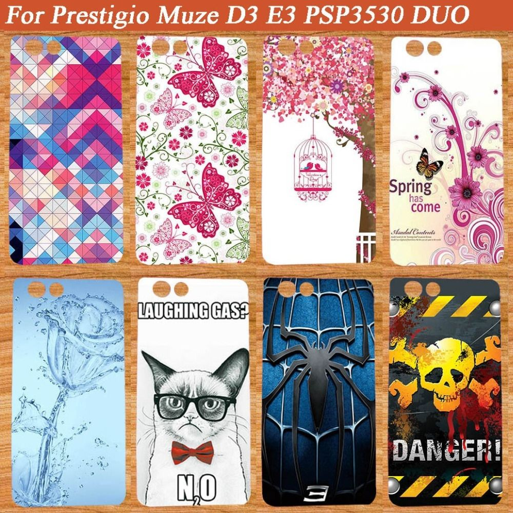 New Fashion Soft TPU Silicone Protective Phone Cover DIY Case For Prestigio  Muze D3 PSP3530 DUO 06ccb17a81c5