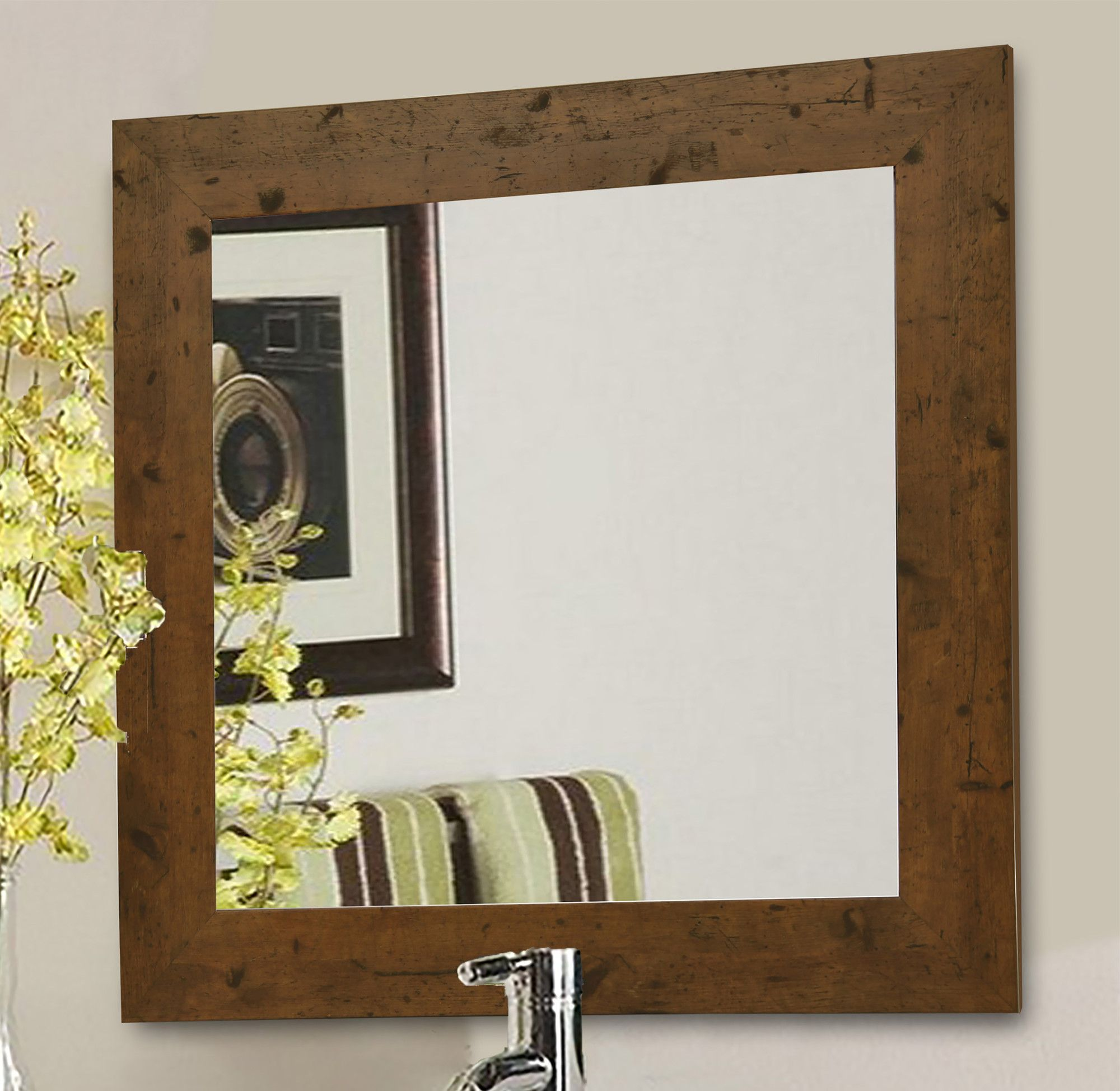 Rustic Wall Mirror | Products | Pinterest | Rustic wall mirrors ...