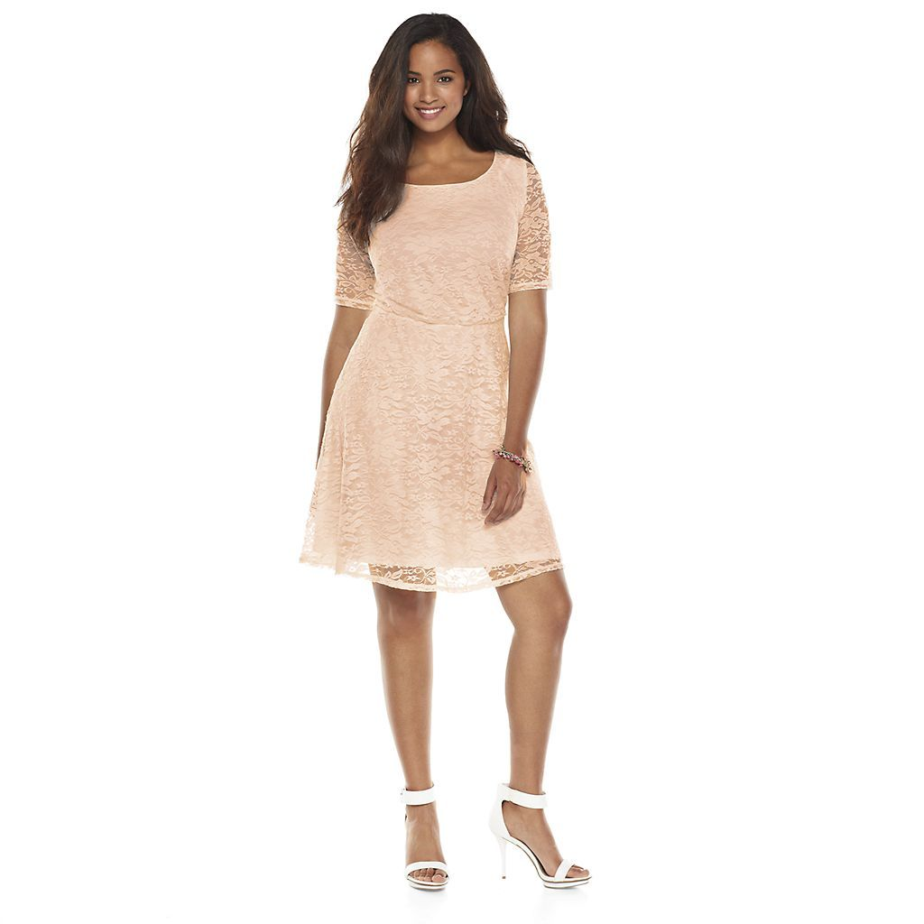 Juniorsu plus size wrapper lace aline dress fly pinterest