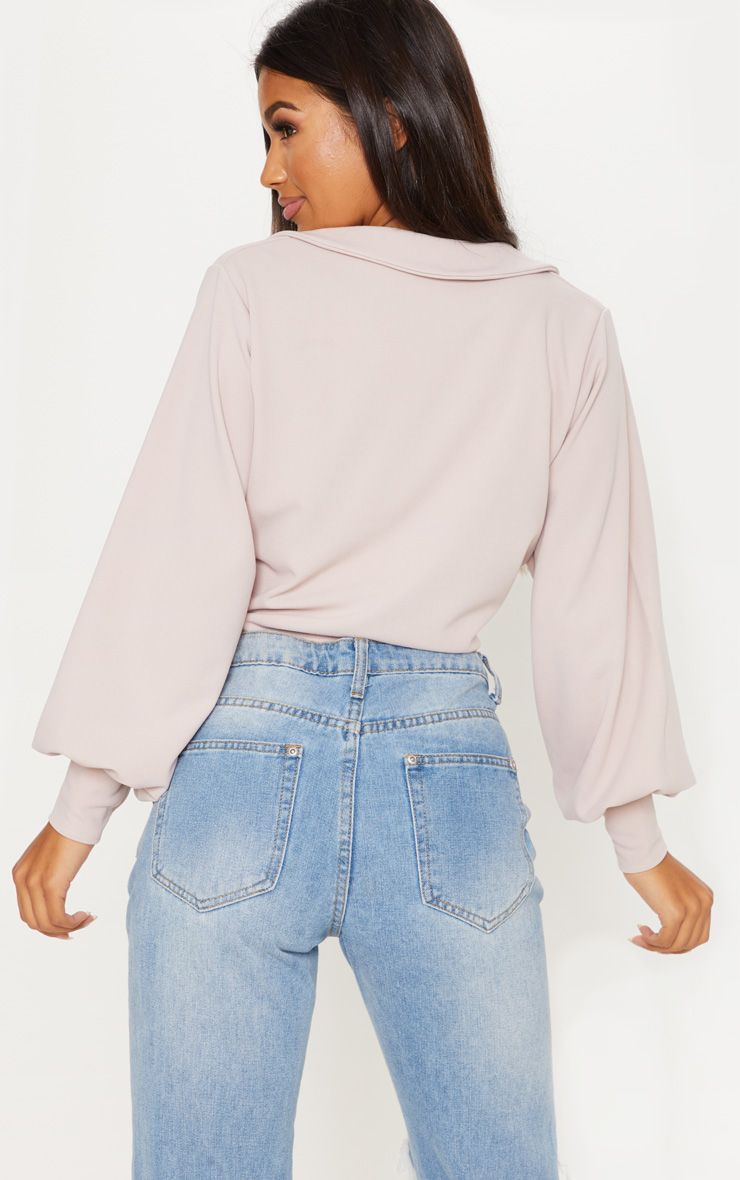 28013ec7a33 Blush Crepe Tie Front Crop Shirt in 2019 | Products | Crop shirt ...