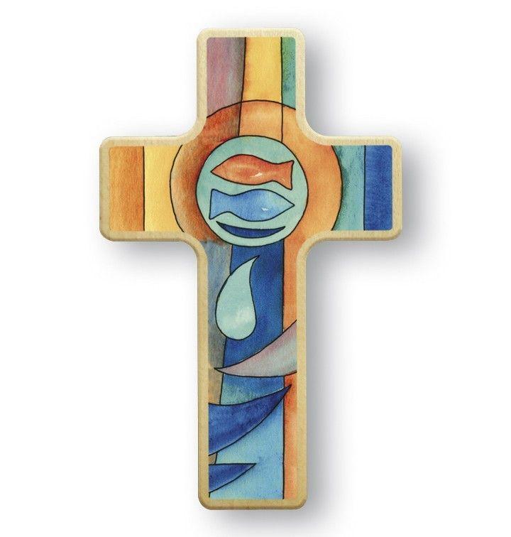 Kreuz Fur Kinder Fische 11 Cm Kruzifix Holz Kreuz Wandkreuz Kinderkreuz Kreuze Wandkreuz