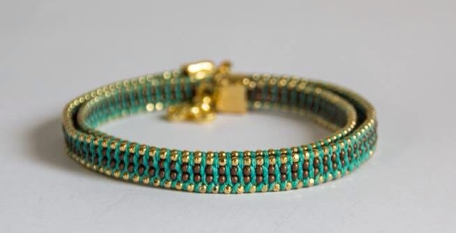 Green & Gold Bracelete