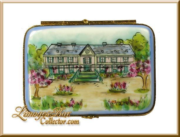 Monet's House at Giverny Limoges box by Beauchamp Limoges www.LimogesBoxCollector.com