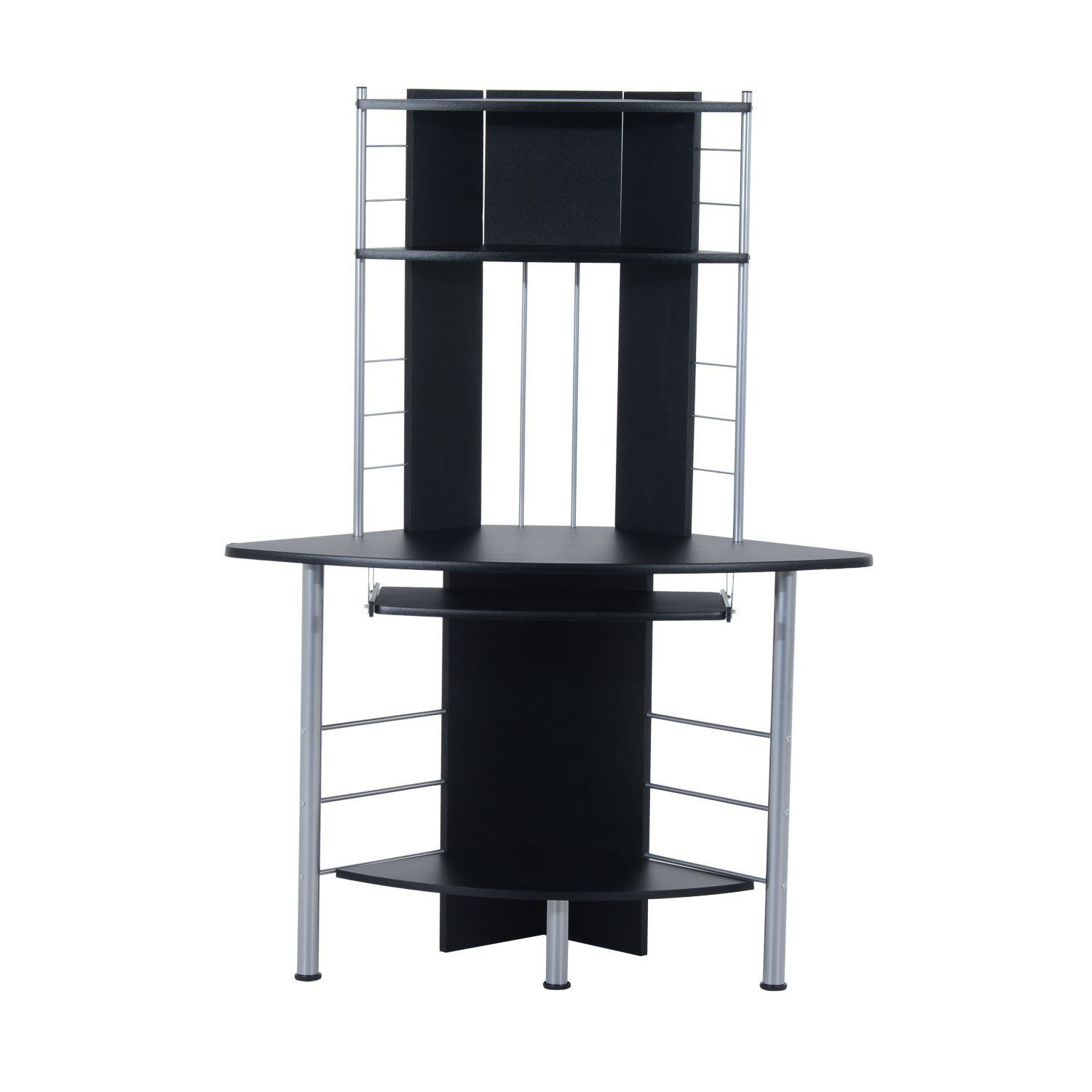 hutch best corner monitor with desk puter and black of double computer
