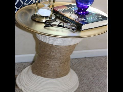 Diy Dollar Tree Side Table Terrarium Youtube Dollar Tree