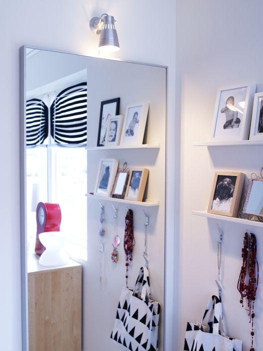 HOVET Spiegel, aluminium | Ikea ikea, Small living and Bedrooms