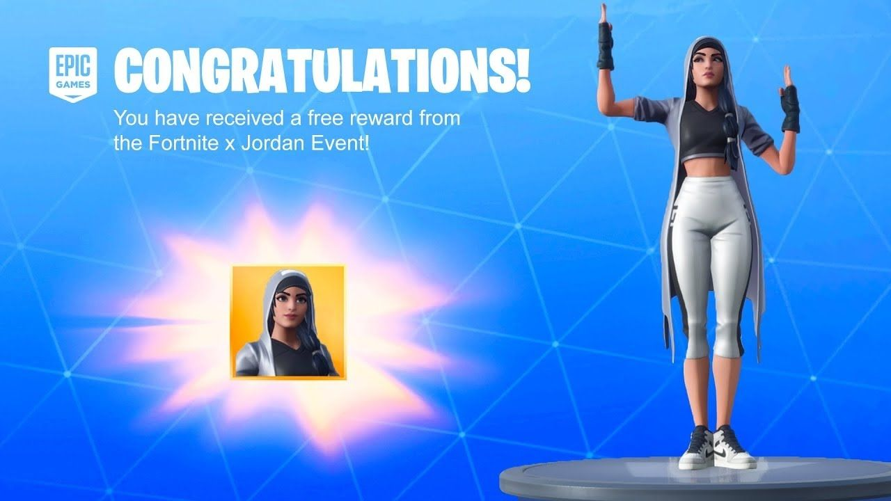 Berri va a decidir Cilios  fortnite x jordan skin png HOW TO GET FREE NBA JORDAN SKIN IN FORTNITE  YouTube