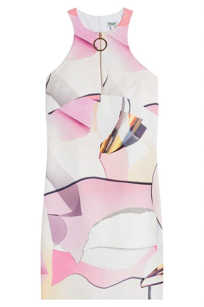 Kenzo #Cocktailkleid aus #Krepp mit #Paper, #Print #, #Multicolor ...