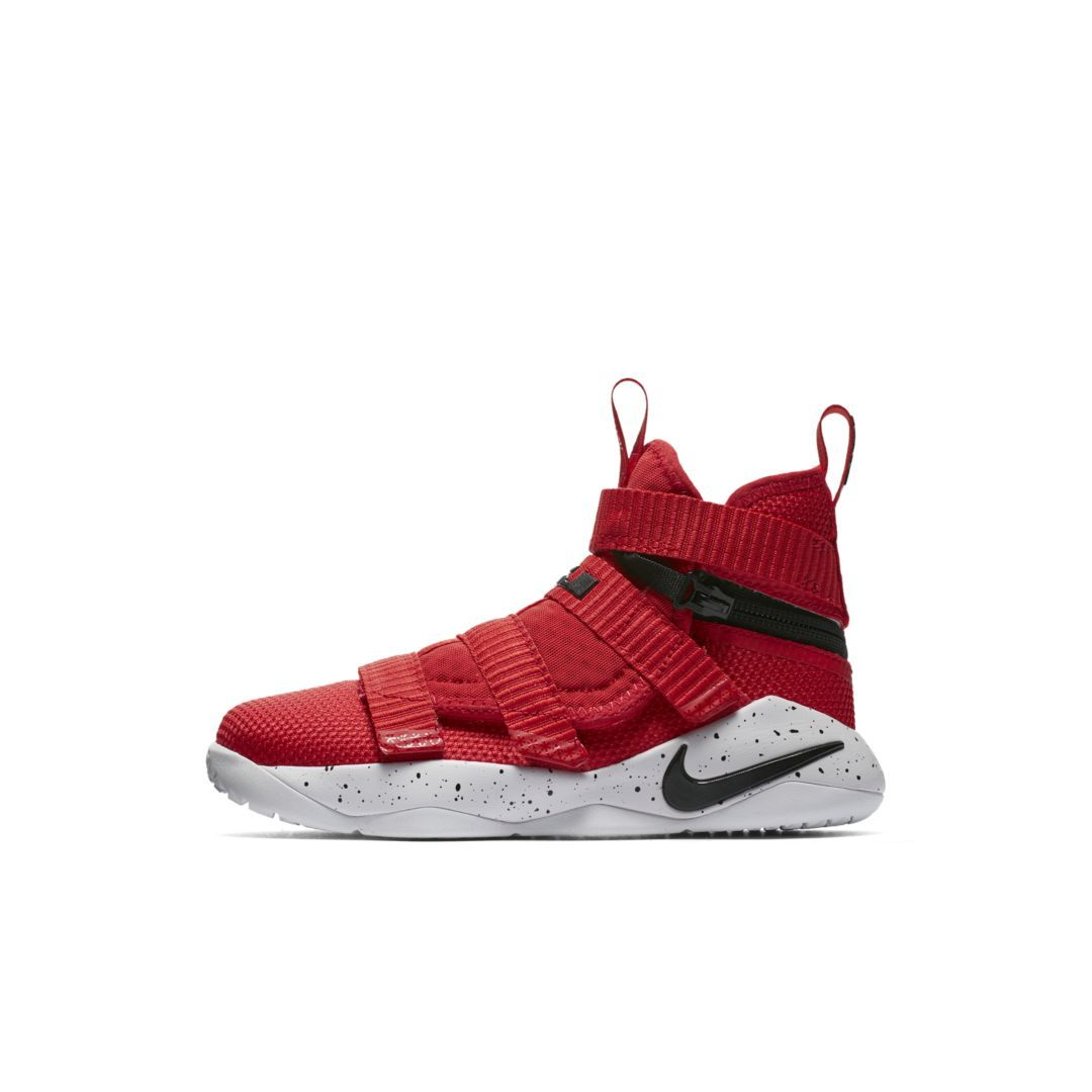 ba014c0026d5b LeBron Soldier 11 FlyEase Little Kids  Shoe Size 11.5C (University Red)
