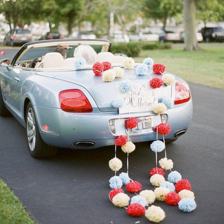 idee originale deco voiture mariage