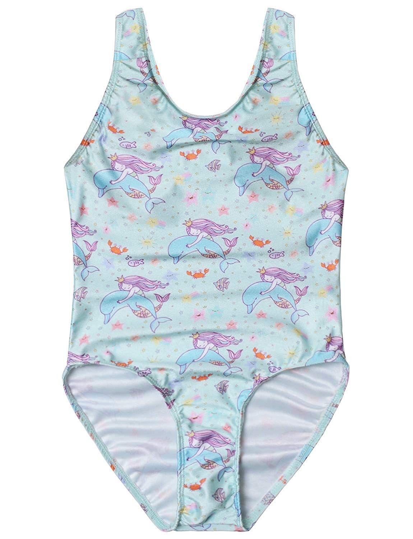 Girls Swimsuits Unicorn Mermaid Bathing Suit Rainbow One Piece Beach Clothes