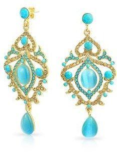 Bling Jewelry Rose Gold Plated Alloy Ombre Teardrop Crystal Chandelier Earrings osZbM2u9c