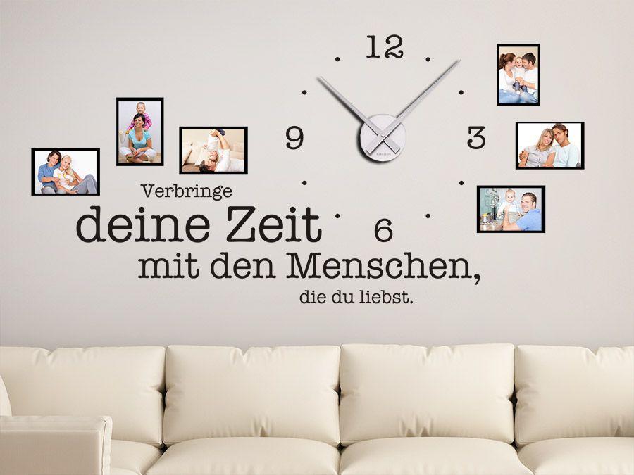 Uhr Verbringe deine Zeit mit - wandtattoo für wohnzimmer
