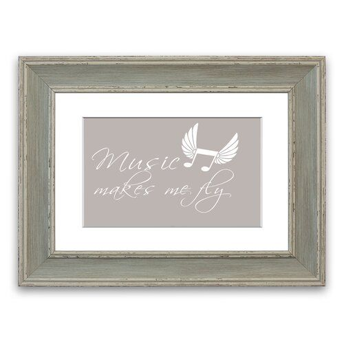 Photo of East Urban Home Framed Poster Music Makes Me Fly | Wayfair.de