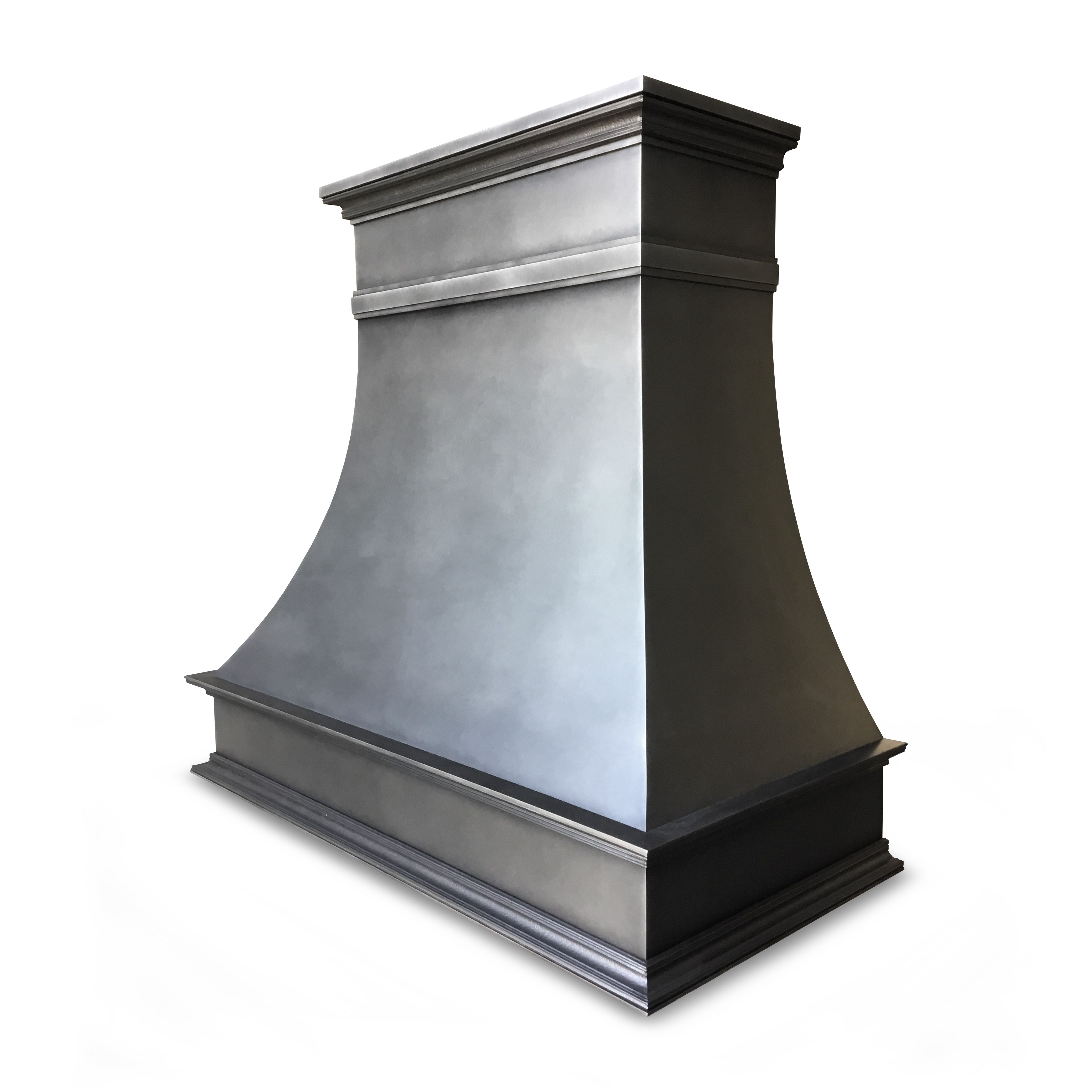Gorgeous And Clean Custom Montrose Range Hood In Aged Antique Steel Patina By Raw Urth Designs